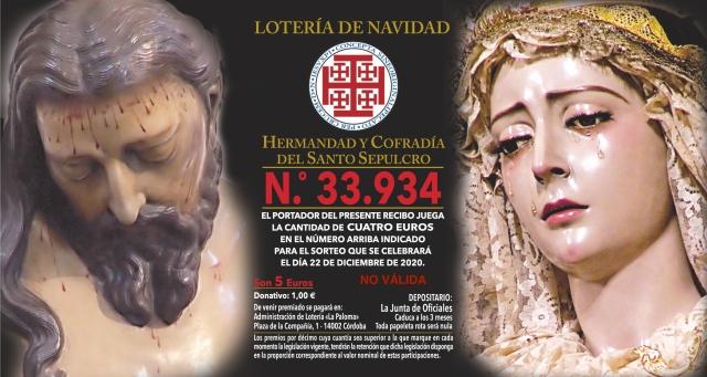 LoterIA Navidad Santo Sepulcro 2020