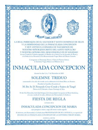 Cartel Inmaculada 2020